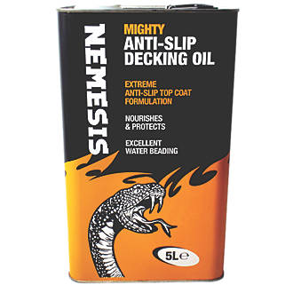 Image of Nemesis Anti-Slip Decking Oil Clear 5Ltr