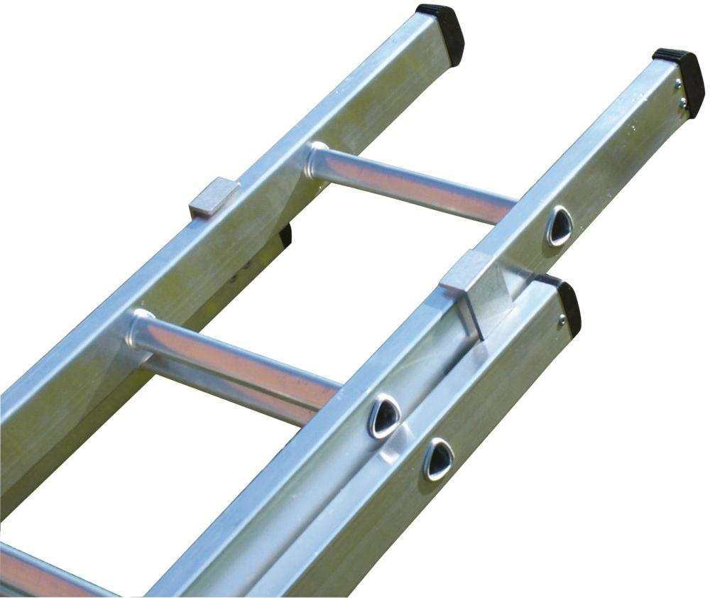 Image of Lyte 2-Section Aluminium Aluminium Double Extension Ladder 7.24m
