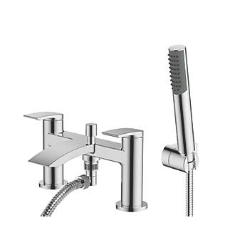 Image of Watersmith Heritage Wye Deck-Mounted Bath / Shower Mixer Tap