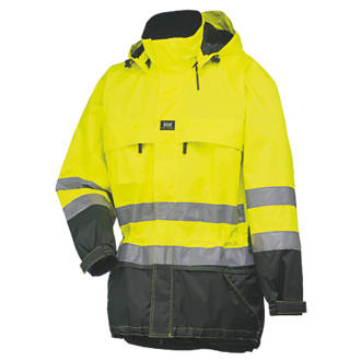 Helly Hansen Potsdam HiVis Shell Jacket YellowCharcoal XL 45½ Chest