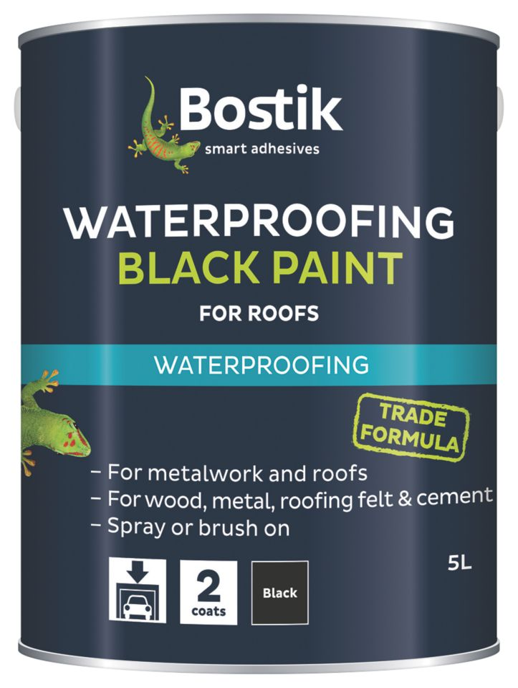 Image of Cementone Waterproofing Bituminous Paint Black 5Ltr