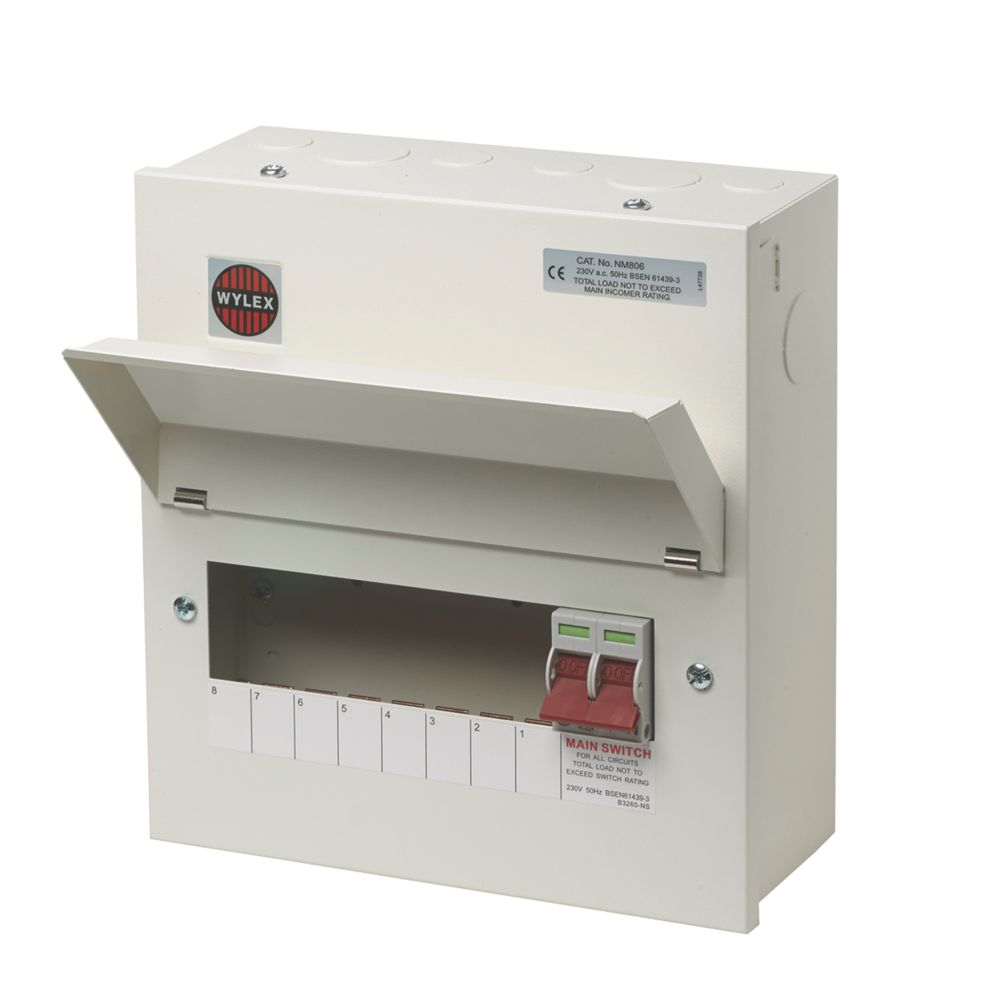 Image of Wylex 100A 8-Way Metal Consumer Unit