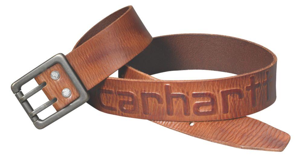 Image of Carhartt Logo Belt Brown