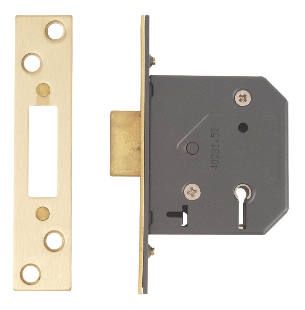 """Image of Yale 5-Lever 5-Lever Mortice Deadlock Polished Brass 2.5"""" / 64mm"""