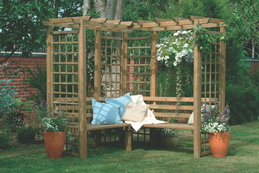 Image of Forest Sorrento Arbour 2 x 1.9 x 2.2m Natural