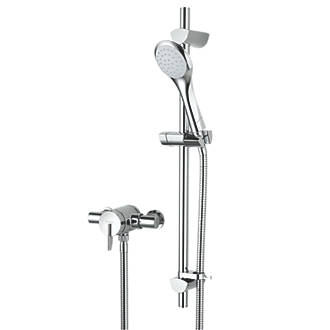 Image of Bristan Sonique Rear-Fed Exposed Chrome Thermostatic Mixer Shower