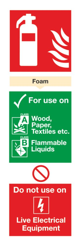 Image of Foam Extinguisher ID Sign 280 x 90mm