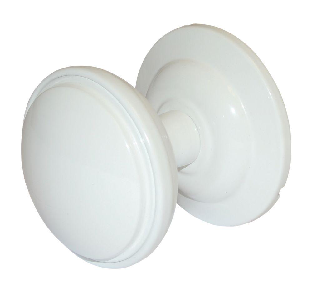 Image of Fab & Fix Decorative Round Door Knob White 75mm