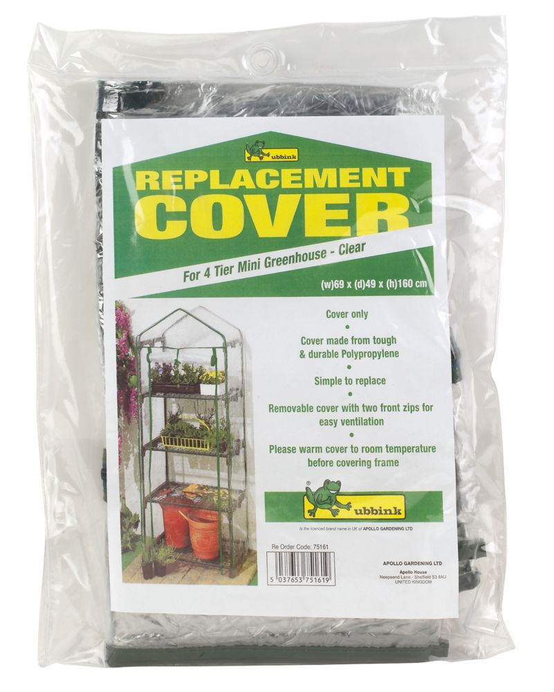 """Image of Apollo 4-Tier Greenhouse Replacement Cover 2' 3"""" x 1' 6"""""""