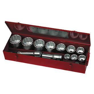 """Image of Teng Tools 1"""" Drive Metric Socket Set 15 Pieces"""
