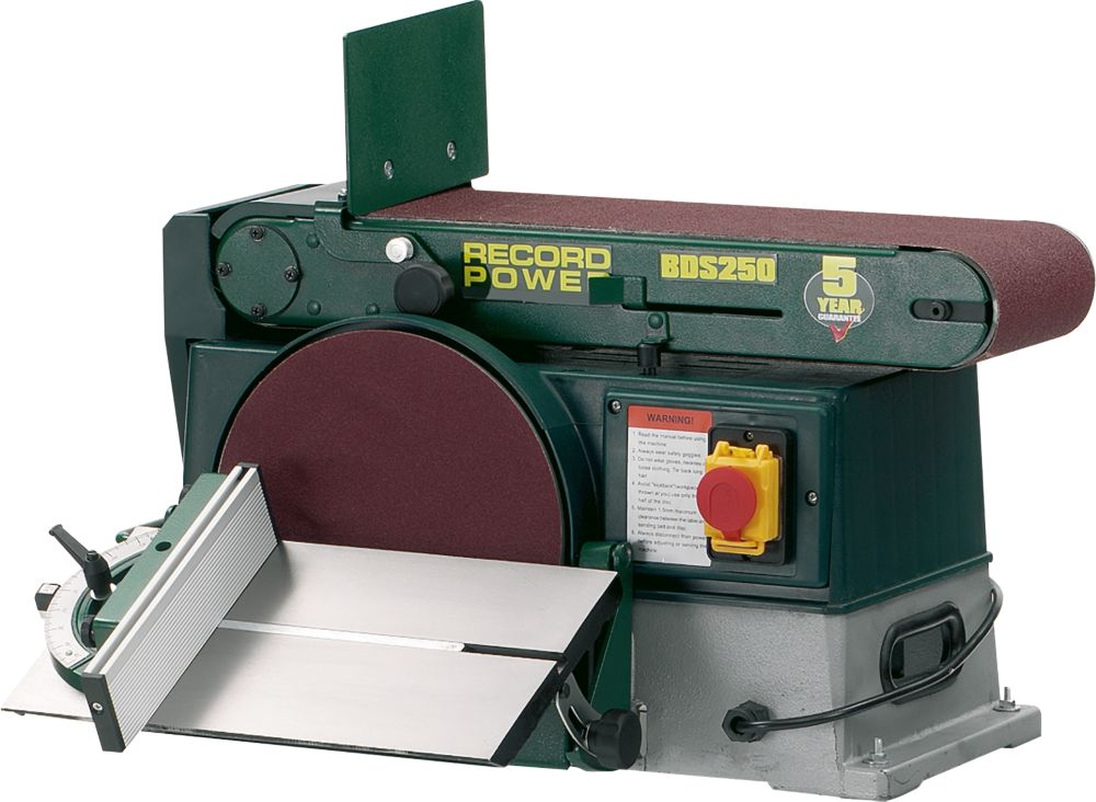 Image of Record Power BDS250 254mm Grinder / Linisher 240V