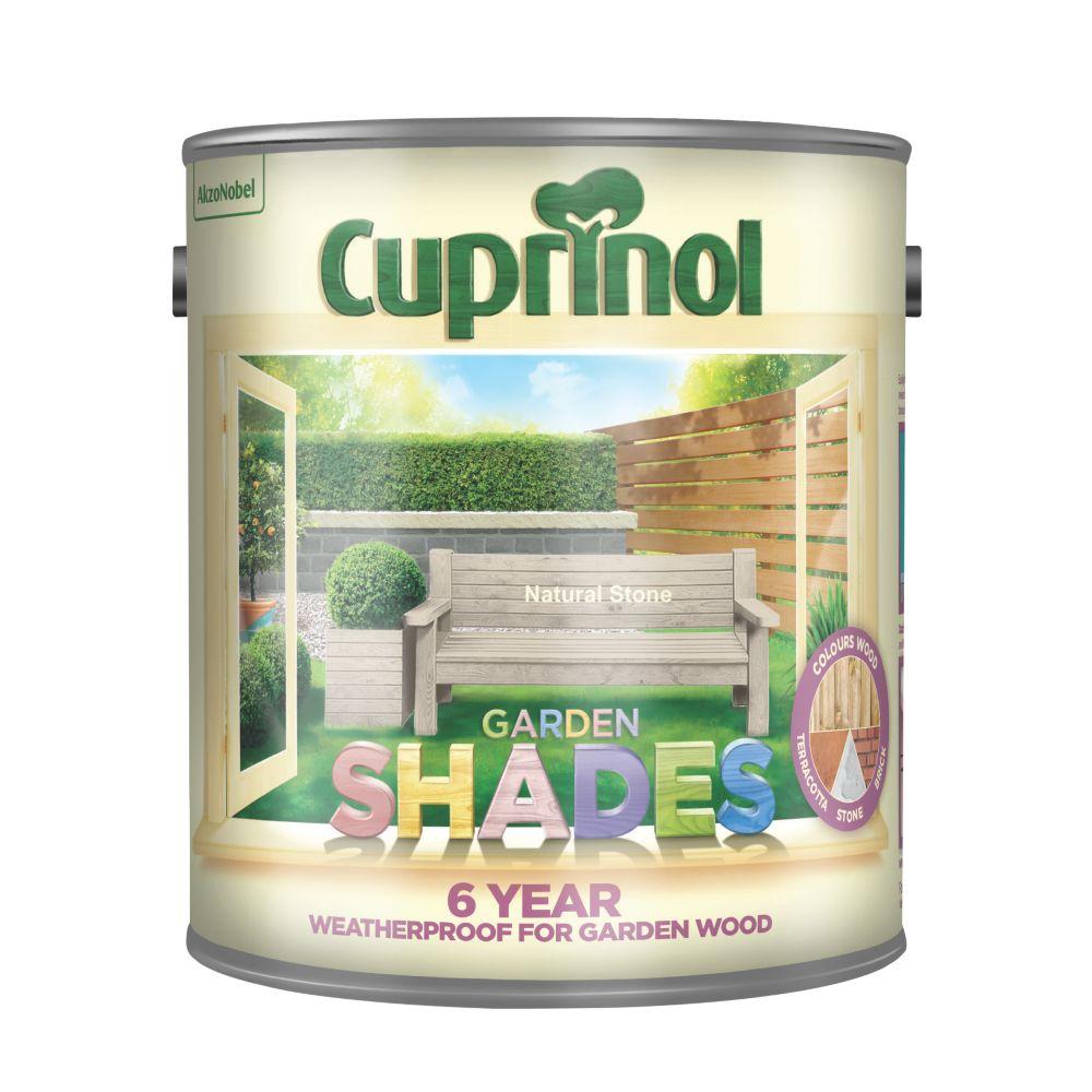 Image of Cuprinol Garden Shades Wood Paint Matt Natural Stone 2.5Ltr