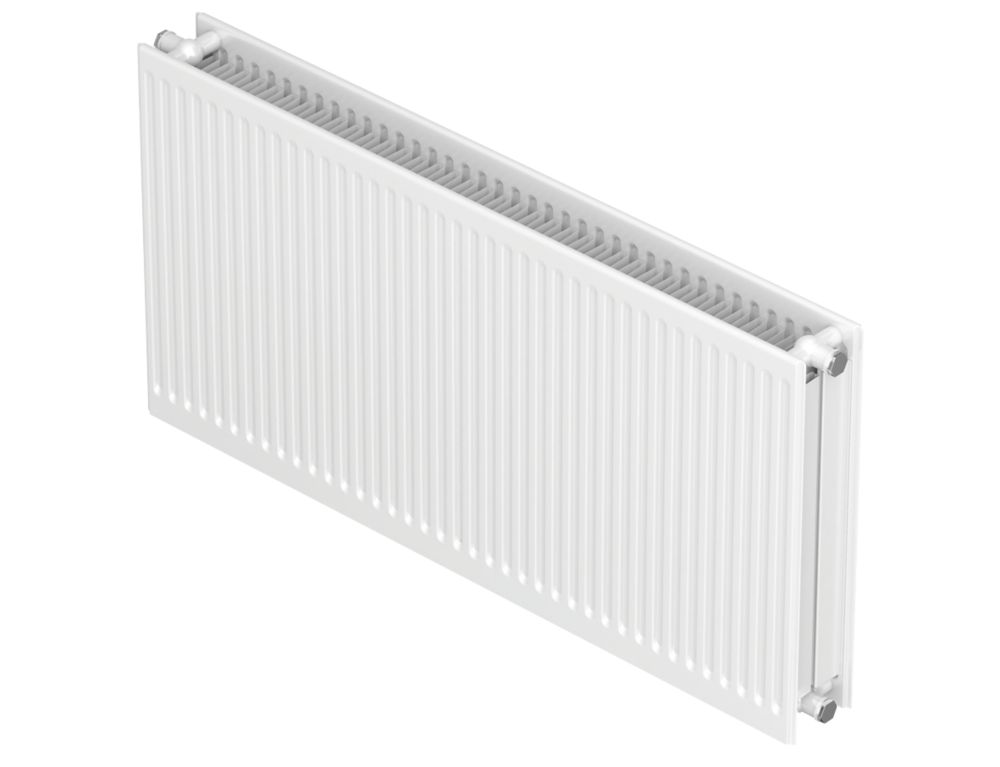 Image of Barlo Round-Top Type 22 Double-Panel Convector Radiator Traffic White 600 x 1200mm