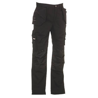 "Image of Herock Dagan Work Trousers Black 32"" W 30"" L"