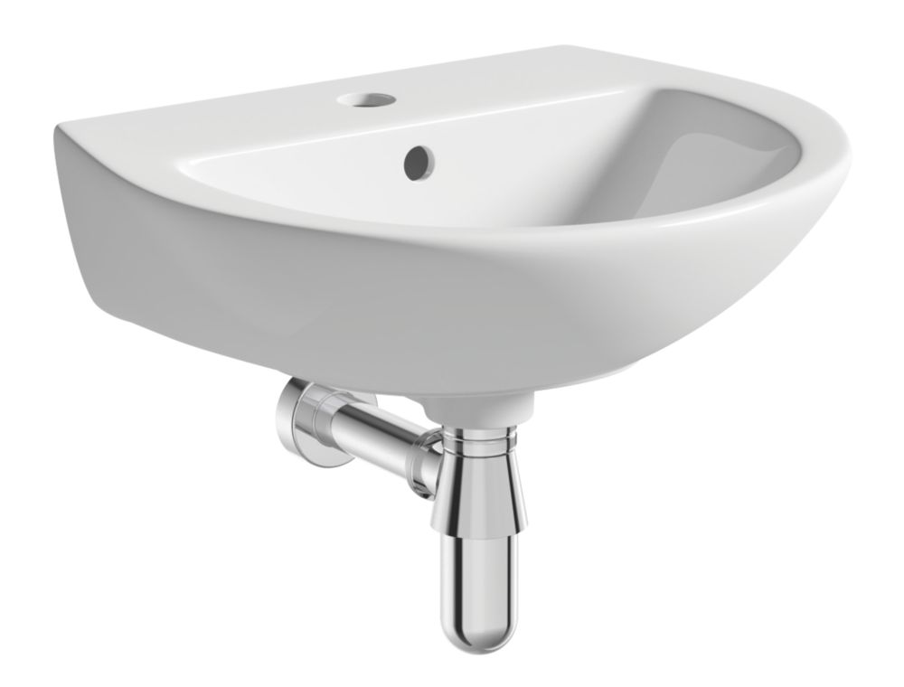 Image of Wall-Hung Cloakroom Basin 1 Tap Hole 450mm