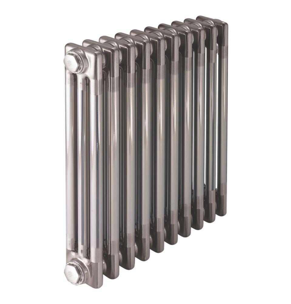 Image of Acova 3-Column Horizontal Designer Column Radiator 600 x 628mm Raw Metal