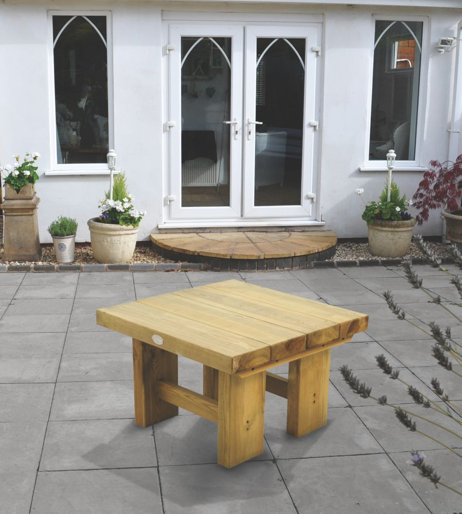 Image of Forest Low Sleeper Garden Table 700 x 700 x 445mm