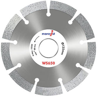 Image of Marcrist WS650 Masonry Diamond Wall Chasing Blades 125 x 22.23mm 2 Pack