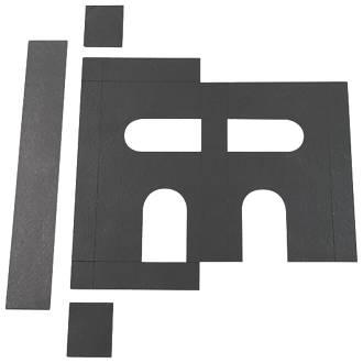 Image of Flexifire Universal Intumescent Sashlock Kit Black 76 x 0.8 x 110mm
