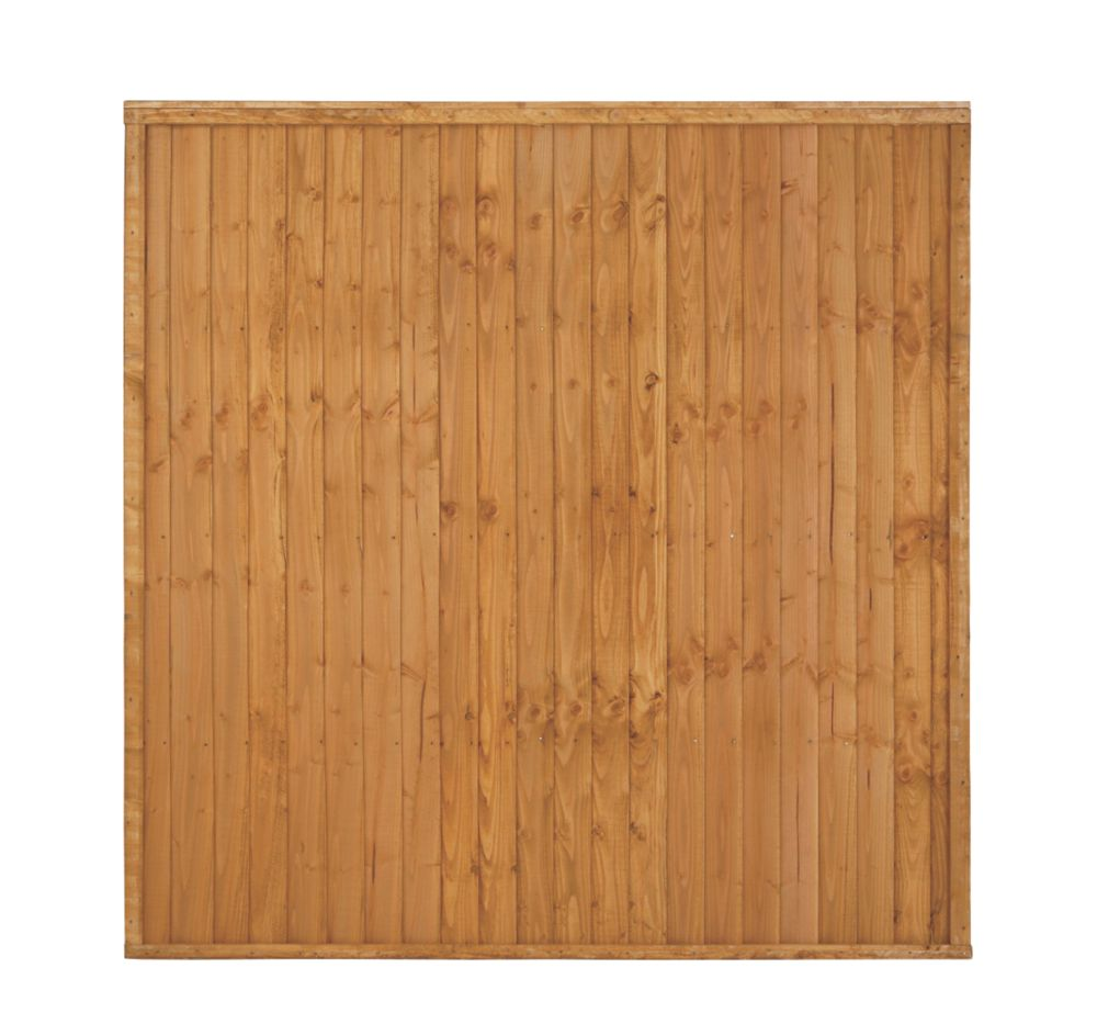 Image of Larchlap Heavy Duty Closeboard Fence Panels 1.8 x 1.8m 8 Pack