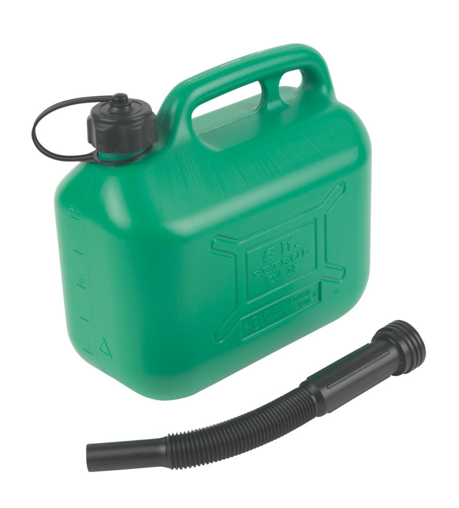 Image of Hilka Pro-Craft Plastic Petrol Can Green 5Ltr