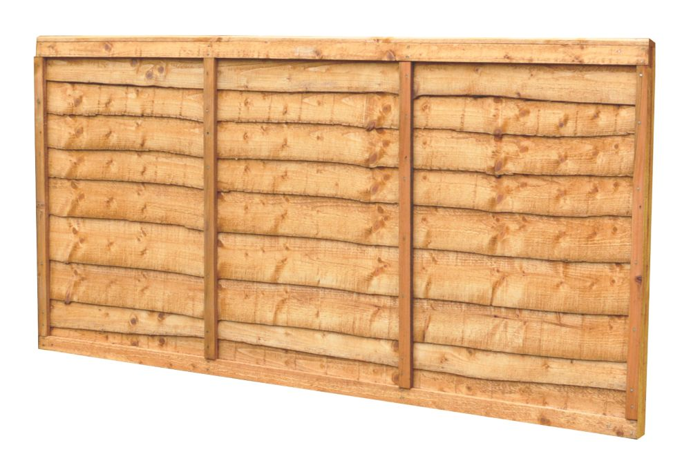Image of Forest Closeboard Panel Fence Panels 1.82 x 0.9m 5 Pack