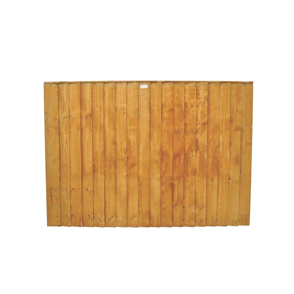 Image of Forest Feather Edge Fence Panels 1.82 x 0.9m 6 Pack