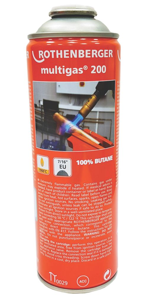 Image of Rothenberger Butane Gas Cylinder 277g