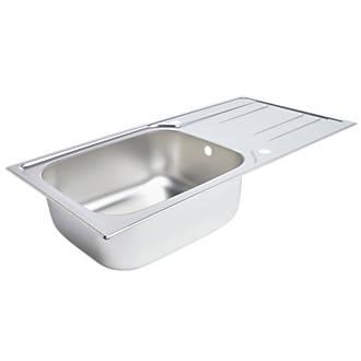 Kitchen Sink & Drainer Stainless Steel 1 Bowl 1000 x 500mm | Sinks ...