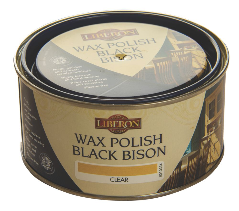 Image of Liberon Black Bison Paste Wax Satin to gloss Clear 500ml