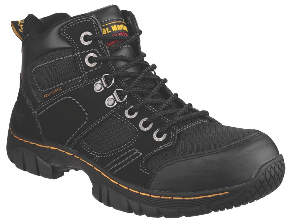 Image of Dr Martens Benham Safety Boots Black Size 10