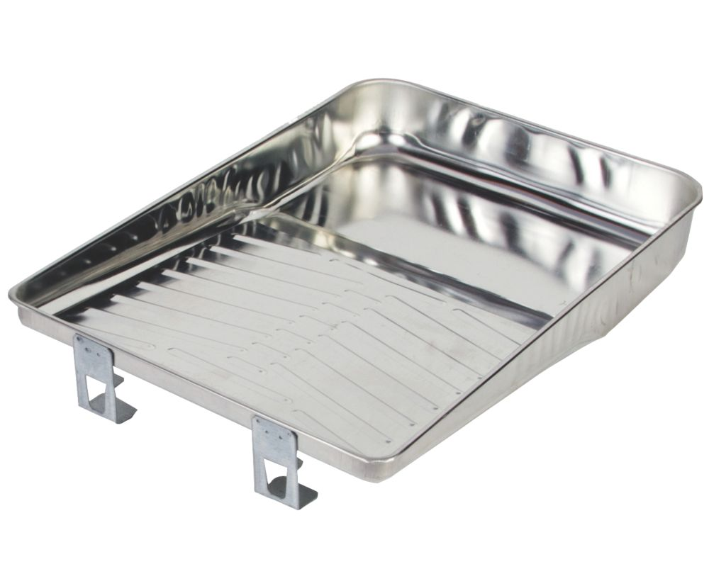 Image of Wooster Metal Roller Tray Silver 9""