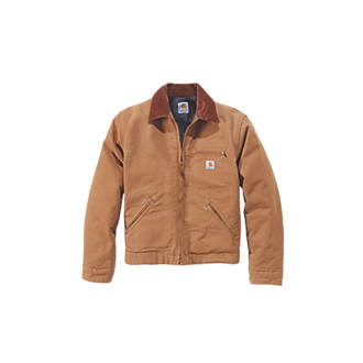 Carhartt Detroit Jacket Duck Brown Large 54 Chest