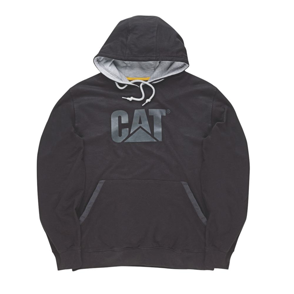 """Image of CAT Tech Hoodie Black Large 41-43"""" Chest"""