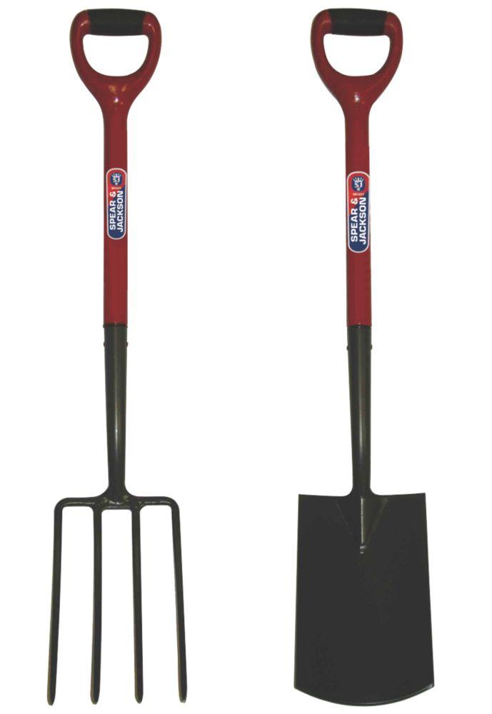 Image of Spear & Jackson Carbon Steel Digging Fork & Spade 2 Pcs