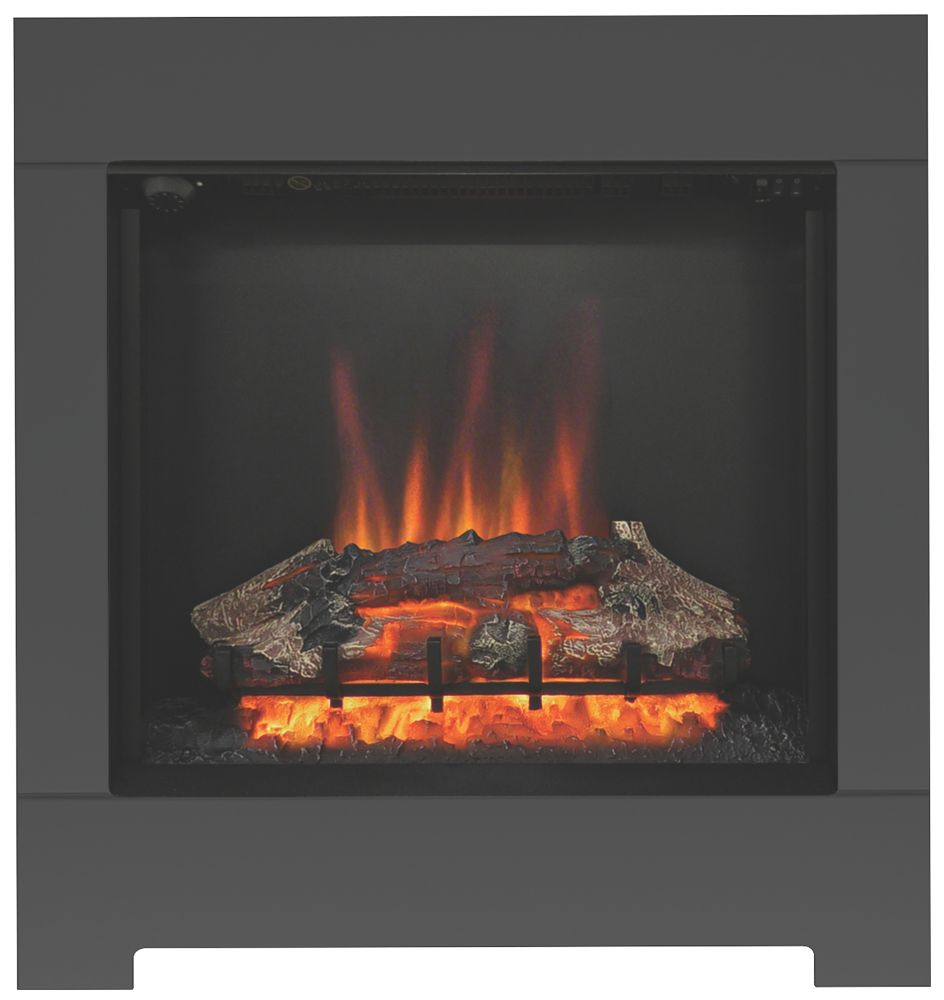 Image of Be Modern Serena Black Switch Control Wall-Mounted Electric Fire