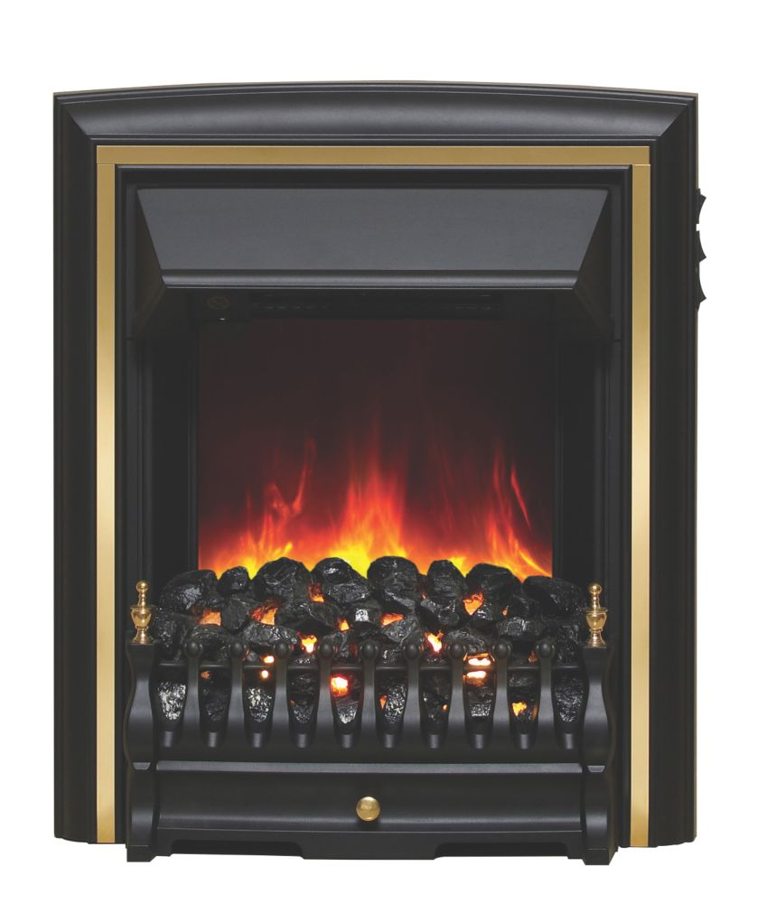 Image of Be Modern Comet Black / Brass Switch Control Inset Electric Fire