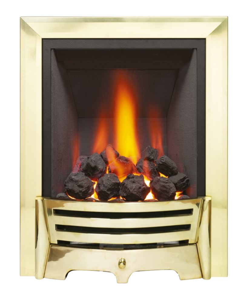 Image of Be Modern Mayfair Brass Rotary Control Inset Gas Fire