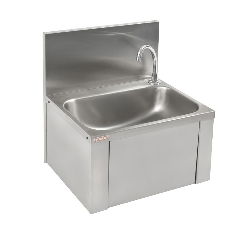 Image of Franke SCRANMX206 Knee Operated Wall-Hung Washbasin 1 Tap Hole 460mm