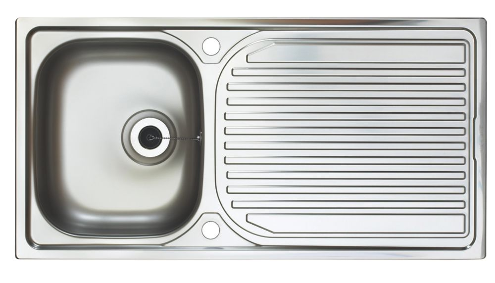 Image of Astracast Aegean Reversible Inset Sink Stainless Steel 1 Bowl 965 x 500mm