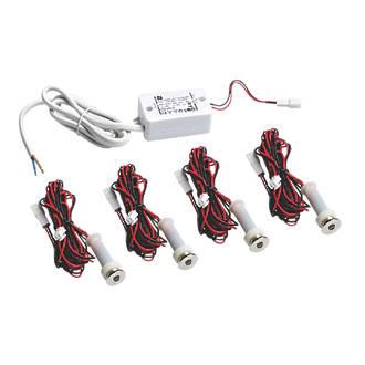 Sensio Specto LED Plinth Lights Kit Chrome 4 Pack