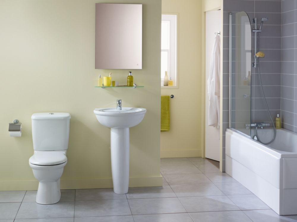 Image of Ideal Standard Alto Contemporary Single Ended Bathroom Suite with Acrylic Bath