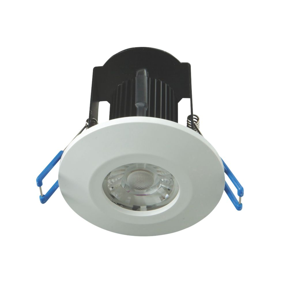 Image of Robus 30, 60 & 90min Fire Rated Fixed LED Downlight IP65 White 6W