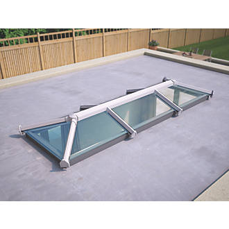 Image of ATT Fabrications Ltd Clear Glass Roof Lantern White 3000 x 1000mm