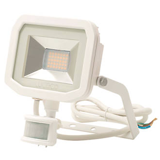 Image of Luceco Guardian LED Floodlight & PIR White 15W Cool White