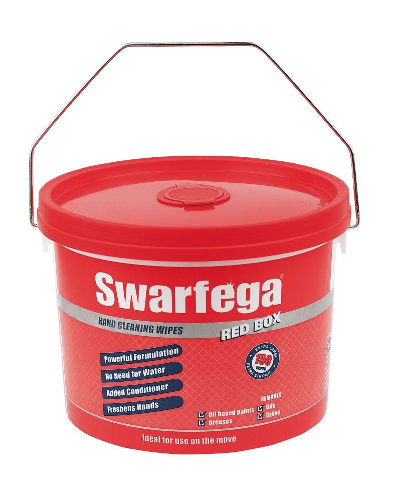 Image of Swarfega Box Wipes Red 150 Pack