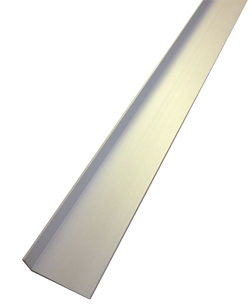 Image of Alfer Anodised Aluminium Angle 1000 x 40mm