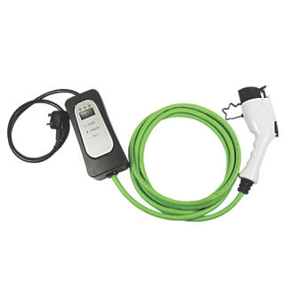 Image of Masterplug 10A Type 1 Female Socket Electric Vehicle Charging Cable 5m Green