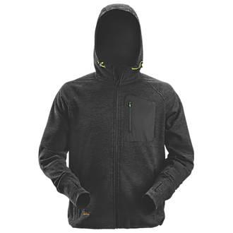 "Image of Snickers FlexiWork Fleece Hoodie Black Large 43"" Chest"