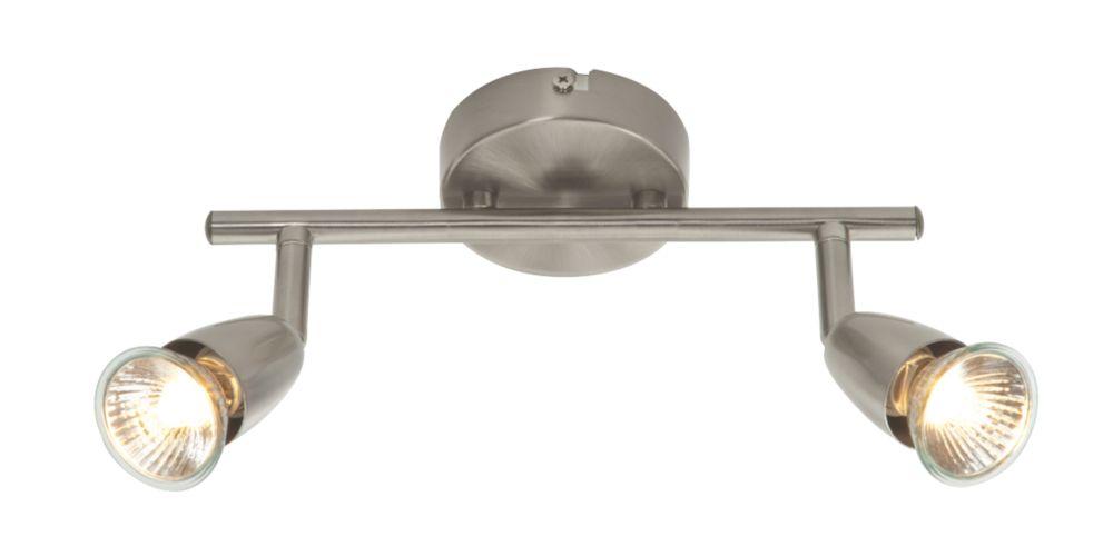 Image of Saxby Amalfi 2-Light Spotlight Bar Antique Brass